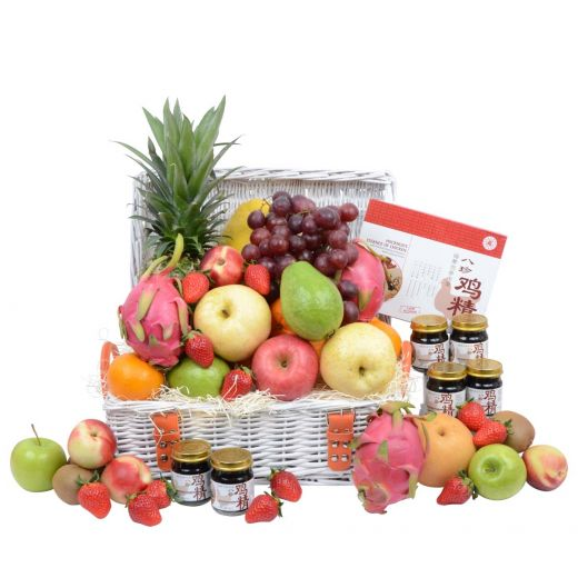 Classic Fruit Hamper with Chicken Essence