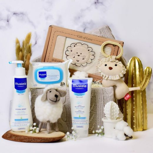 Jungle Baby Gift with Mustela Set