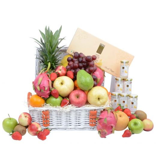 Classic Fruit Hamper with Bird's Nest