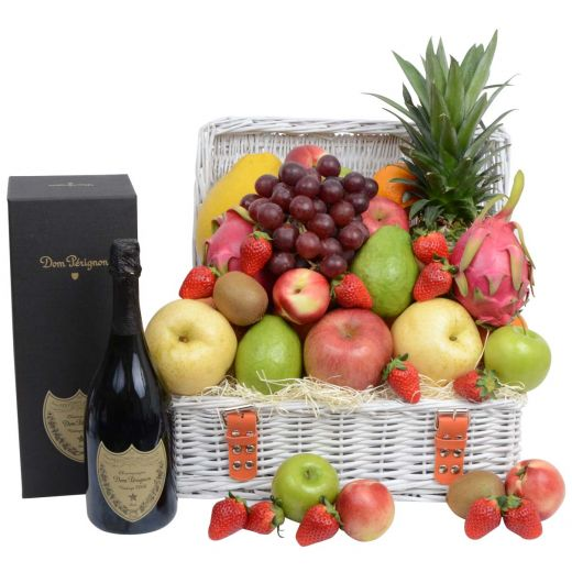 Classic Fruit Hamper with Dom Pérignon Champagne