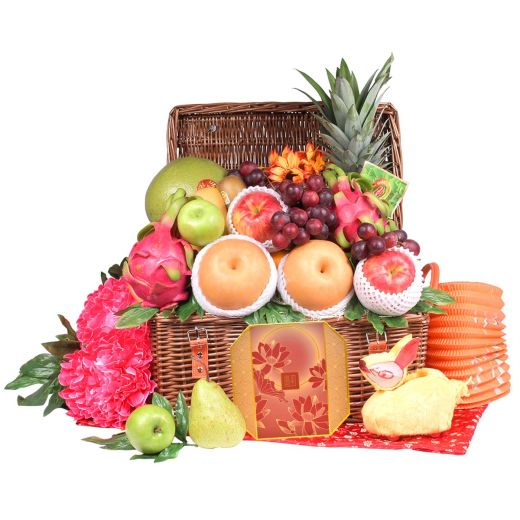 Classic Mid Autumn Fruit Hamper With Peninsula Mooncake