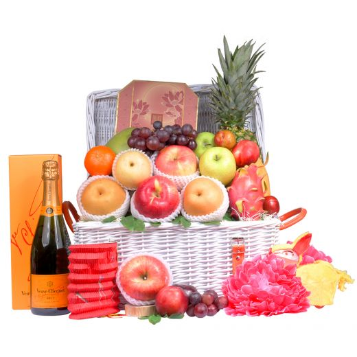 Classic Mid-Autumn Fruit Hamper With Peninsula Mooncake & Champagne