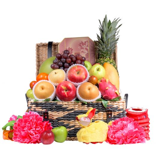 Festive Fruit Hamper With Peninsula Mooncake