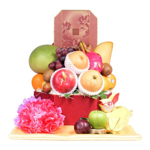 Bright Moon Fruit Gift Box With The Peninsula Mooncake