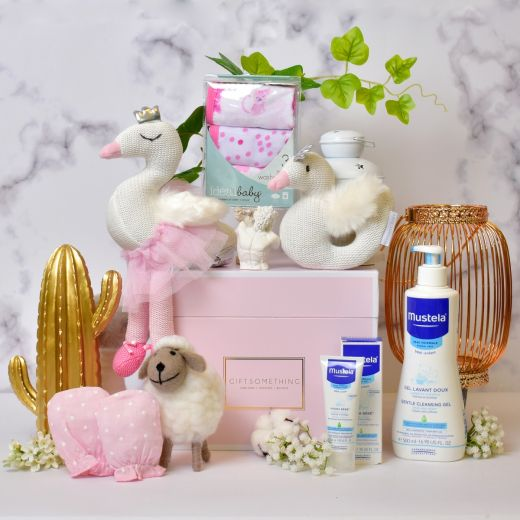 Pure Swan Gift Set For Baby Girl